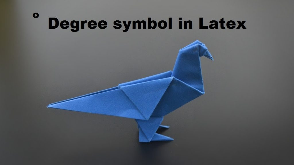 Degree symbol Latex