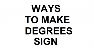 How to put a degrees sign