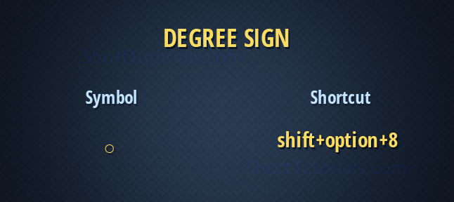 degree sign mac