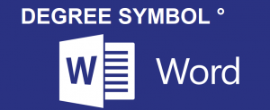 Degree symbol in word
