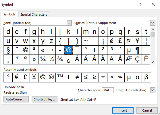Special Characters in windows