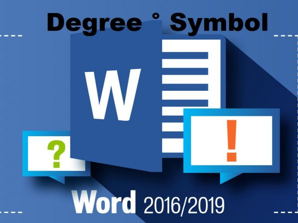 How to type the degree symbol