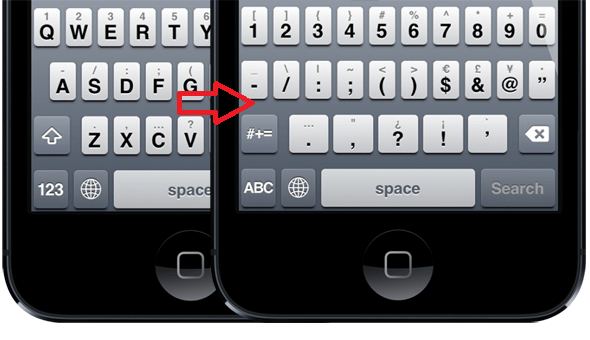 Special Characters in iphone or ipad