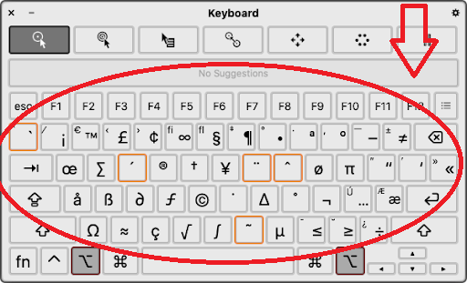 Special Characters in mac os