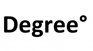 degrees symbol